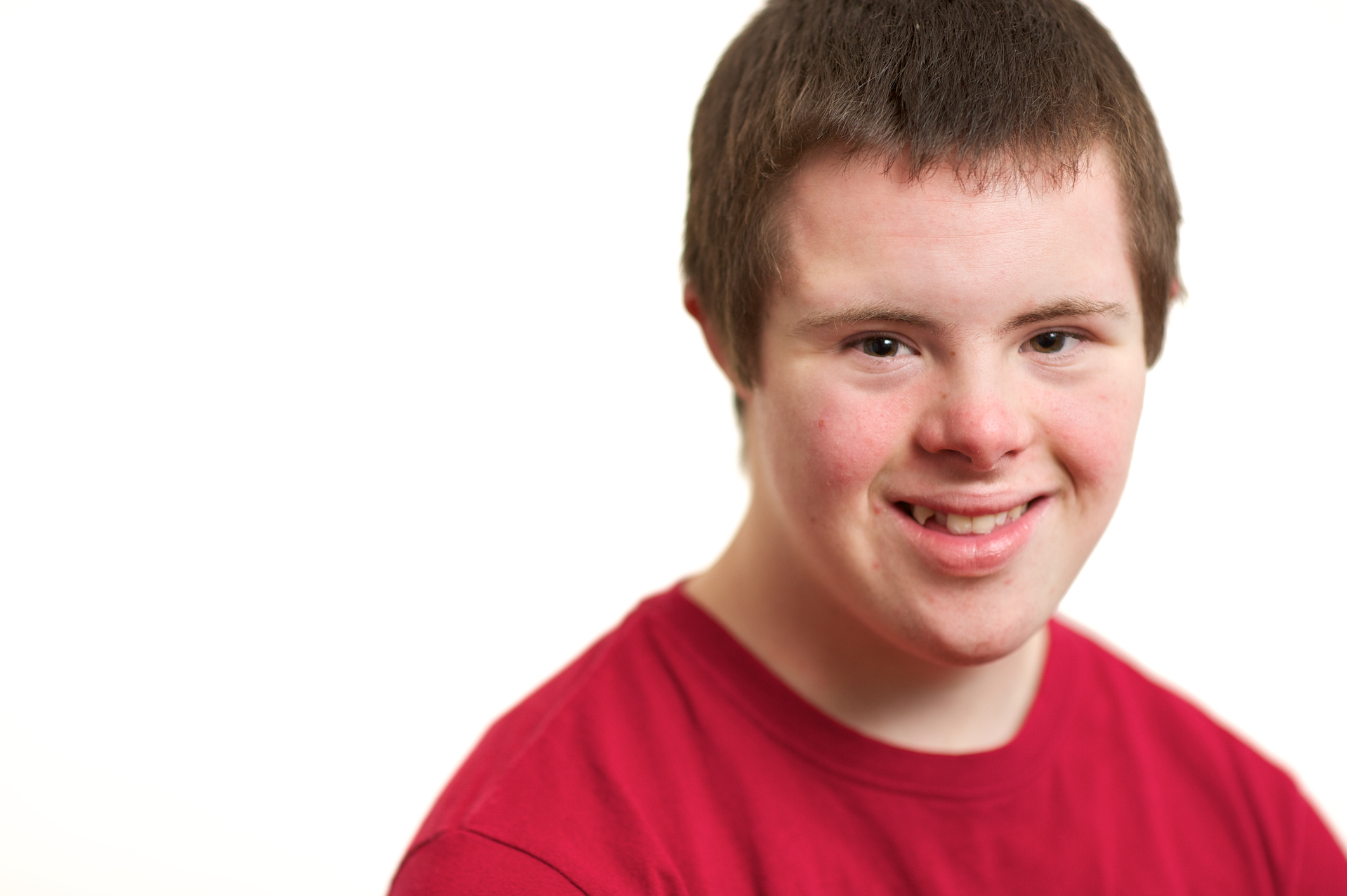 Fifteen-year-old Boy smiling